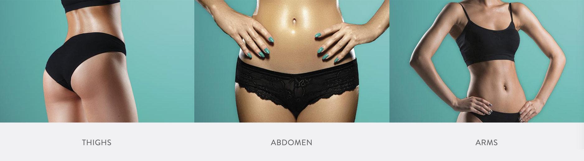 Thighs, Abdomen, Arms